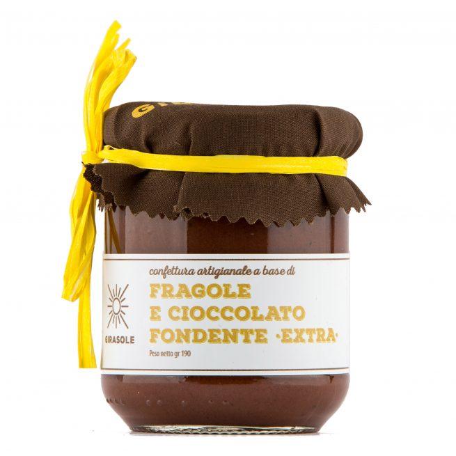 Fragole e cioccolato fondente